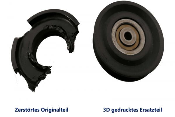 3D Druck rsatzteil Laufrolle GAF mbH